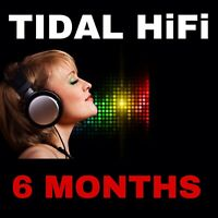 Tidaal HiFi 6 Months For Private Email  | Worldwide | One time payment