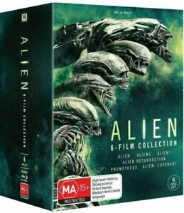 ALIEN COMPLETE 6 MOVIE COLLECTION New Blu Ray BOX SET Region B
