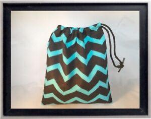 Gymnastics Leotard Grip Bags / Blue Chevron Gymnast Birthday Goody Bag
