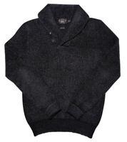 RALPH LAUREN RRL Double RL Men's Shawl Neck Knit Sweater Charcoal Gray Medium M