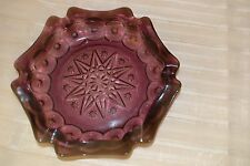 Vintage Depression Glass Purple Amethyst Serving tray Ash Tray