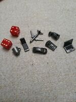 Monopoly Replacement Pieces Pewter Tokens Movers Set of 9 Pieces Fast Shipping