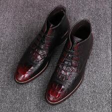 Spitz High-Top Boots Schnürschuhe Business Schuhe Herren Schuhe Gr.38-44 TOP