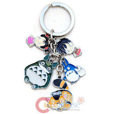 My Neighbor TotoroKey Chain with May Cat Bus Metal  5 Pendent  Key Holder