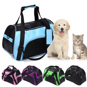 UK Pet Dog Cat Portable Travel Carry Carrier Tote Cage Bag Crates Holder Bags C1