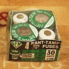Gem Type S, 30 Amp #530 Kant-Tamp Fuse with Thermal Element - NEW