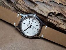 Usado De Colección Omega Seamaster Cosmic 2000 Plata Cuadrante Reloj de hombre automático