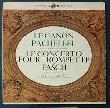MAURICE ANDRE/JEAN FRANCOIS PAILLARD/PACHELBEL/FASCH FRENCH LP ERATO 1968