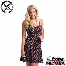 METAL MULISHA 'SLIVER DRESS' WOMENS DRESS SMALL UK 8 BLACK FLOWERS BNWT RRP £44