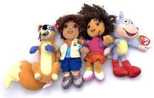 Dora the Explorer Dora, Diego, Boots, Swiper set Plush Stuffed TY lot of 4 Read