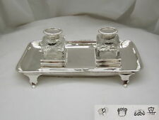 RARE Geo II HM STERLING SILVER 4 FOOTED INKSTAND 1744