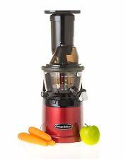 Omega MMV702R Mega Mouth Slow Juicer Red
