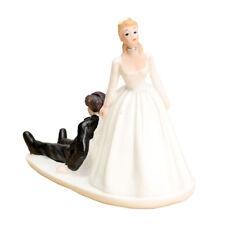 FUNNY ROMANTIC WEDDING CAKE TOPPER FIGURE BRIDE GROOM BRIDAL Couple Run awa R1Q1