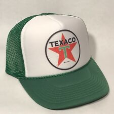 Vintage Style Texaco Truck Stop Store Gas Station Oil Trucker Hat Snapback Green