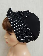 Black head covering, sleeping head scarf, women's headscarf bonnet, hair scarf