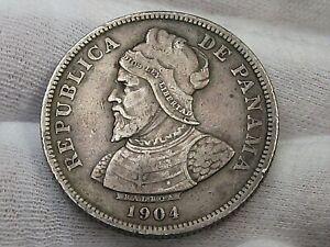1904 Silver 25 Centesimos PANAMA.  #22