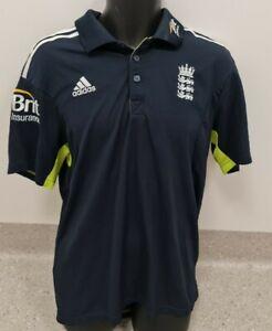England Adidas One Day International Polo Shirt Size L