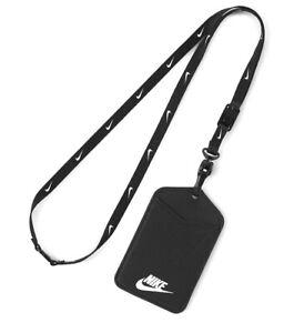 Nike I.D. Badge Lanyard  Soccer ID Holder Football Key-Chain Black DC3632-091