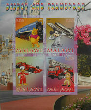 Disney & Transportation cartoons Mickey Donald m/s Malawi 2008 MNH IMPERF #F456