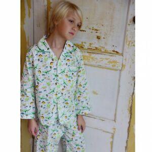 Boys Traditional Cotton Dinosaur Pyjamas kids pjs  Age 1-2, 2-3, 4-5, 6-7, 8-9