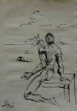 Rare & Unique original Ink, painting, signed Salvador Dali w COA, docs.