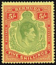 Bermuda 1950 5s. yellow-green & red / pale yellow (p.13), MNH (SG#118f)