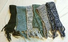 Ladies Winter Knit Fashion Scarf Scarves - Assorted Colors - Lot of 6