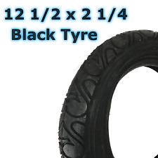 1 x noir Pneu de poussette (62-203) 12 1/2 2 1/4 promeneur TROTTINETTE
