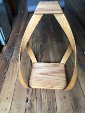 "New listing 18"" Vintage Mid Century Modern Danish Teardrop Bentwood Hanging Shelf Planter"