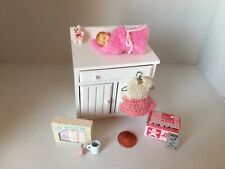 New Listing1:12 scale, Dollhouse Miniature baby doll, Clothes and nursery items, Diapers