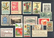ITALY 17 POSTER STAMPS / BACK OF BOOK --F/VF