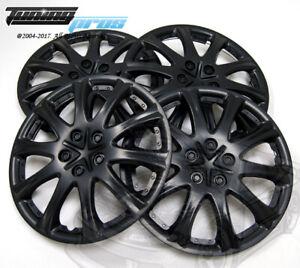 "4pcs Qty 4 Wheel Cover Rim Skin Cover 15"" Inch, Style 503 15"" Hubcap Matte Black"