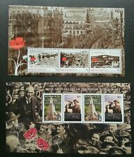 New Zealand Australia Joint Issue End Of World War I 2008 WWI (ms) MNH *see scan