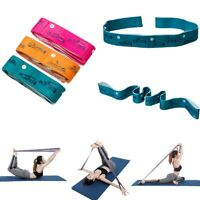 Yoga Stretch Strap Elastic Yoga Belt Fitness Exercise Gym Leg Resistance Bands~^