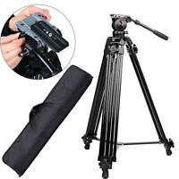 Professional Heavy Duty DV Video Camera Tripod with Fluid Pan Head Kit For DSLR