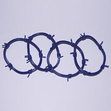 New Wave 80s Gothic Goth Punk Industrial Gummy Blue Barbed Wire O Ring Bracelets