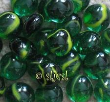 Discontinued Iguana Swirls 00004000  Premium green yellow 25 Glass Gems Mosaic Tile Tiles