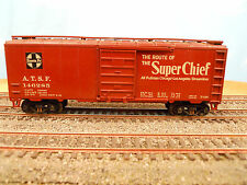 HO SCALE KAR-LINE SANTA FE ATSF 146285 SUPER CHIEF 40' BOX CAR RTR