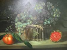 Grape Basket-Signed-Painting--2381--Dim: 12X16