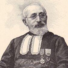 Portrait Zadoc Kahn Mommenheim Grand Rabbin de France Judaica צדוק כהן