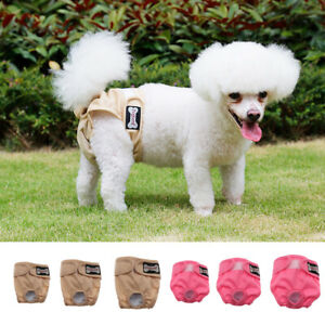Pet Dog Doggy Diapers Female Washable Durable Doggie Diapers Pants