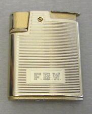 vtg RONSON VARAFLAME WHIRLWIND LIGHTER heavy gold plated mono FBW Woodbridge NJ