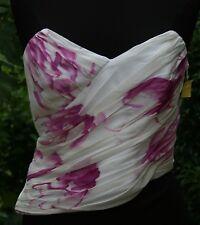 Cache Mujer Asimétrico Camiseta sin mangas talla 10 Rosa Sexy Blanco Corsé
