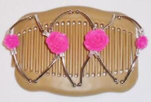 """Angel Wings Hair Clips 4x3.5"""", African Butterfly Style, US SELLER, BEIGE S41"""