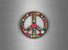 Sticker aufkleber tuning jdm motorrad auto biker bomb peace and love blume