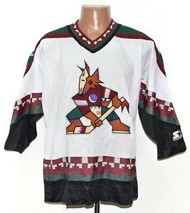 NHL PHOENIX COYOTES ICE HOCKEY SHIRT STARTER SIZE L/XL BOYS ADULT MULTI