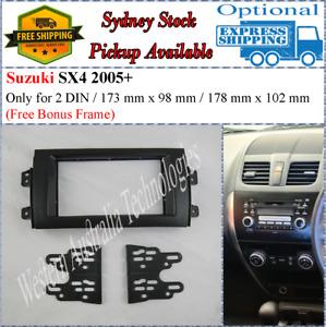 Fascia facia Fits Suzuki SX4 2007-2013 Double Two 2 DIN Dash Kit