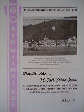 Programm 1984/85 Erzgebirge Aue - Carl Zeiss Jena