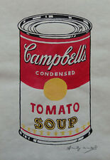 Fine unique Pop Art painting, soup can, signed Andy Warhol w COA