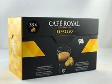 33 Kapseln Cafe Royal für Nespresso Srt Classic Espresso 4 Sorten 6,38€/100gr.